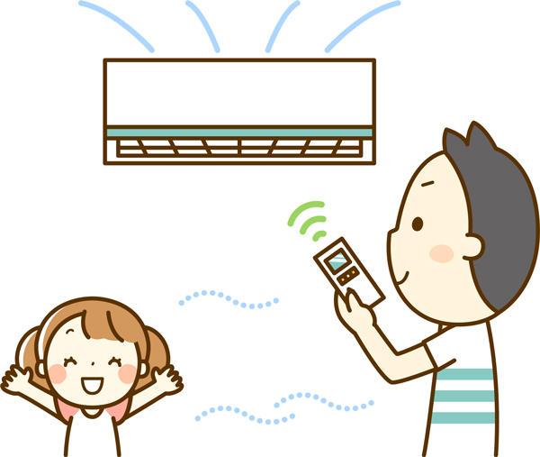 扇風機やカーテンなどで室内温度を保つ